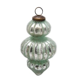 5 IN BAROQUE GLASS ORNAMENT