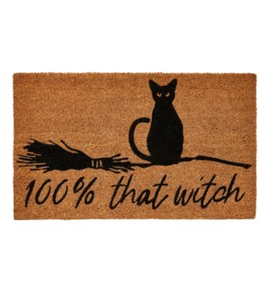 100% THAT WITCH RUBBER BKD MAT