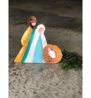 "10"" Holy Family Wood Cutout, Bright, Copyright Candice Boatright"