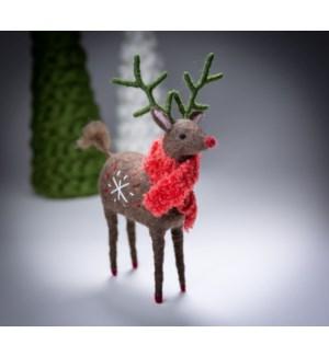 """10"""" Felt Reindeer"""