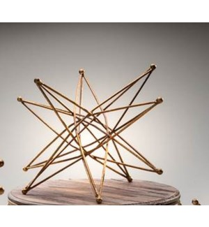 """10"""" Metal Geo Table Décor, Gold"""