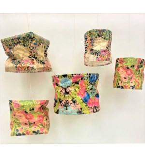 "10"" Square x 10""H Paper Shade, Yellow Floral Abstract, Copyright Tawnya Norton"