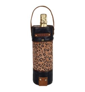 Cheetah Round Wine Bag