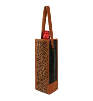 Cheetah Square Wine Bag