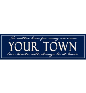 """6X20 """"CLASSIC TOWN"""" SIGN - NAVY"""