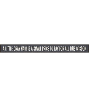 A LITTLE GRAY HAIR IS A SMALL - SKINNIES 1.5X16