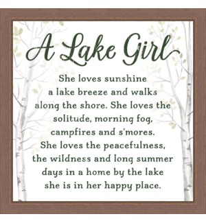 A LAKE GIRL - 12X12 FRAMED