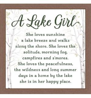 A LAKE GIRL - 12X12 FRAMED