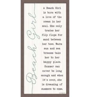 A BEACH GIRL LOVES - FARMHOUSE FRAME 12X24