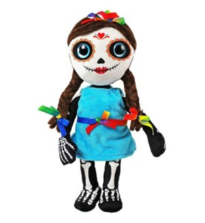 "14"" Day of the Dead Doll, Girl"