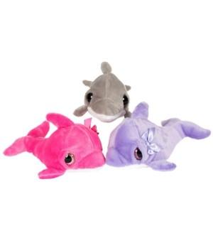 """10"""" Droopy Eye Dolphin 3 Asst"""