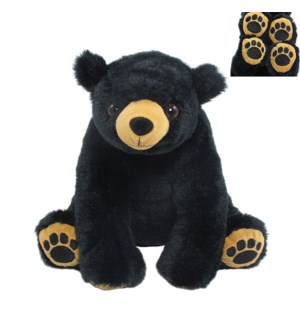 "10"" Black Bear w/ Embroidered Paws"
