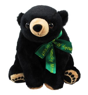 "10"" Black Bear w/Embroider Paws SMT"