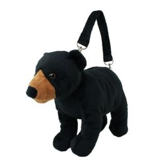 "10"" Black Bear Purse"