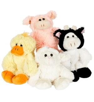 """10"""" Cuddle Softy Farm, 4 Asst"""