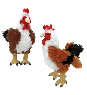 """10"""" Brown Rooster, 2 Assorted"""