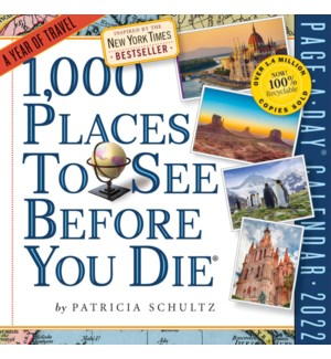 1,000 Places to See Before You Die PAD 2022(F)