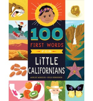 100 FIRST WORDS FOR LITTLE CALIFORNIANS(F)