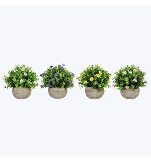 Artificial Floral in Pots 4 Assorted