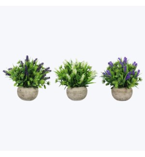 Artificial Floral in Pots 3 Assorted