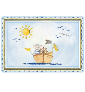 "L'ADVENTURE ATTEND RECTANGLE ANTI-SLIP PLACEMAT 17"" X 11.5"""