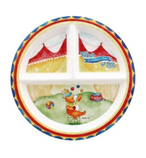 AMUSES-TOI 'ENJOY YOURSELF' ROUND TEXTURED SECTION PLATE
