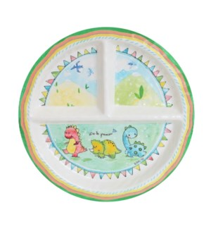 ETRE LE PREMIER 'BE THE LEADER' ROUND TEXTURED SECTIONED PLATE