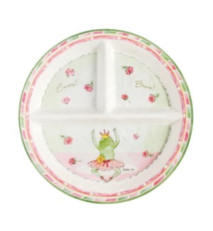 BRAVO ENCORE - ROUND TEXTURED SECTIONED PLATE