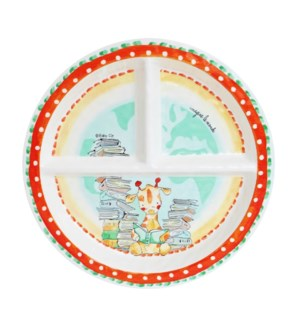 IMAGINE LE MONDE 'IMAGINE THE WORLD' ROUND TEXTURED SECTIONED PLATE