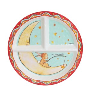 REVER D'ETRE UNE STAR 'WISH ON A STAR' ROUND TEXTURED SECTIONED PLATE