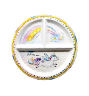 REALISE TES REVES 'REALIZE YOUR DREAMS' ROUND TEXTURED SECTION PLATE