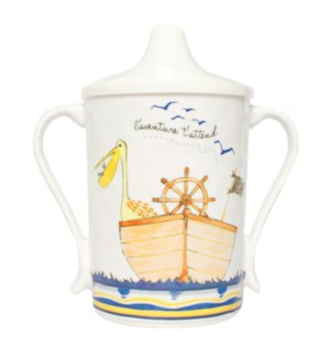 L'AVENTURE ATTEND 'ADVENTURE AWAITS' - TEXTURED SIPPY CUP