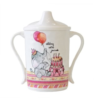 CELEBRER VOTRE JOURNEE 'CELEBRATE YOUR DAY' TEXTURED SIPPY CUP