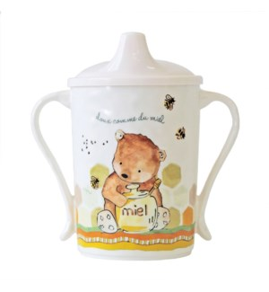 DOUX COMME DU MIEL 'SWEET AS HONEY' TEXTURED SIPPY CUP