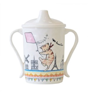 DANS L' AIR 'UP IN THE AIR' TEXTURED SIPPY CUP