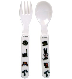 FORK & SPOON PIRATE -BLACK