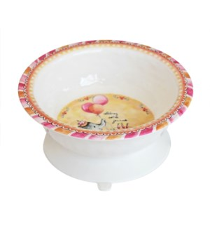 CELEBRER VOTRE JOURNEE 'CELEBRATE YOUR DAY' TEXTURED SUCTION BOWL