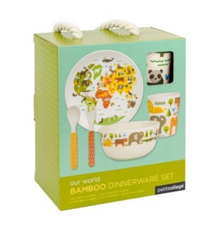 Bamboo Baby Dinner Set World