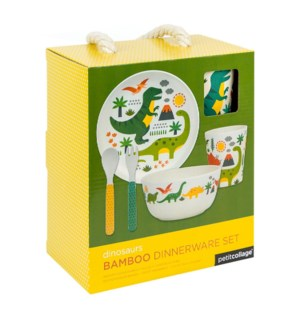 Bamboo Baby Dinner Set Dinosaur