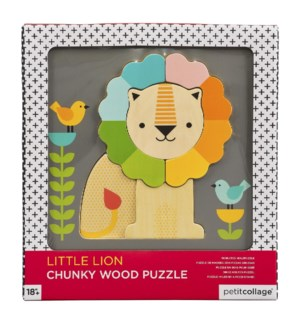 Chunky Wood Puz Little Lion