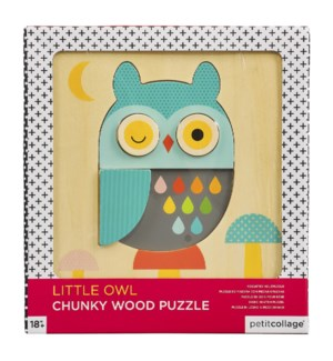 Chunky Wood Puz Little Owl