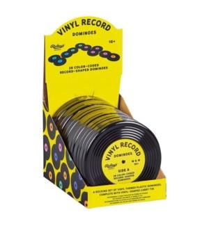 Game Vinyl Record Dominoes CDU of 6