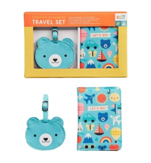 Baby Travel Set Passport + Luggage Tag