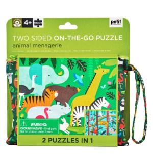 Jigsaw Puz 2 Sided Animal Menagerie