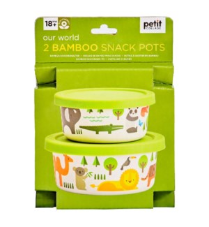Bamboo Snack Pots Our World
