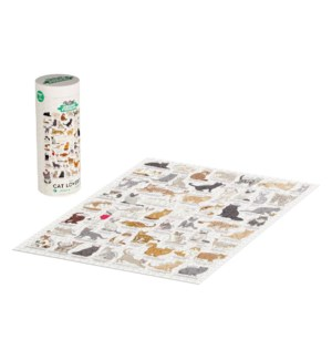 Jigsaw Puz 1000pc Cat Lover's Cream