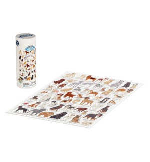 Jigsaw Puz 1000pc Dog Lover's Cream