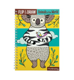 Flip & Draw Animals of the World