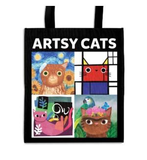 Artsy Cats Reusable Shopping Bag
