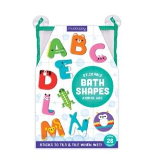 Bath Shapes Animal ABC Stickable Foam